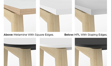 Nova Wood High Table Edge Detail