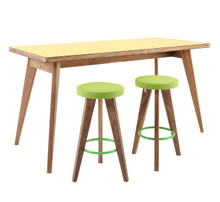James Burleigh Osprey High Table Yellow With Stools