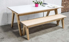 Rigg 'Synk' Plywood Dining Table & Bench