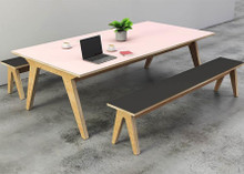 Rigg 'Synk' Plywood Office Table & Benches