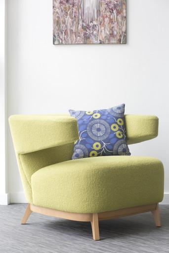 KI Take5 Single Seater Armchair Green