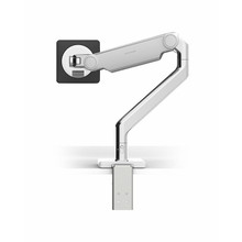 Humanscale M2.1 Monitor Arm, Polished Aluminium with White Trim