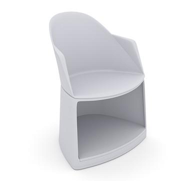 Arper Cila Go Storage Armchair White