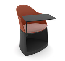 Arper Cila Go Storage Armchair with Writing Tablet