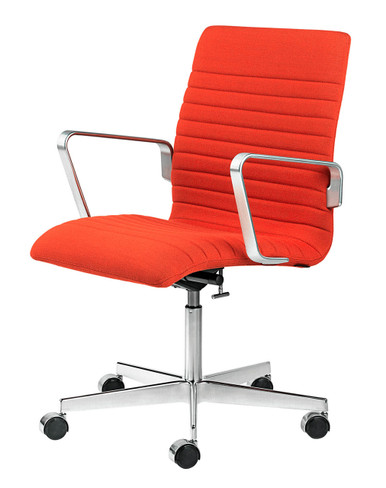 Fritz Hansen Oxford Premium Low Back Office Chair Kvadrat Rime 0551 Bright Red
