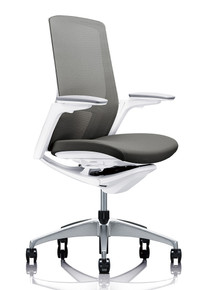Okamura Finora Task Chair White Frame Polished Base