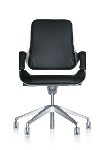 Interstuhl Silver Swivel Chair 262S - Front View