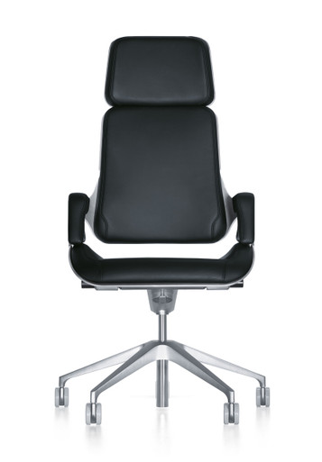 Interstuhl Silver Swivel Chair 362S - Front View
