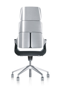 Interstuhl Silver Swivel Chair 362S - Rear View