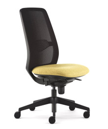 Pledge Eclipse Task Chair Without Arms - Black Frame
