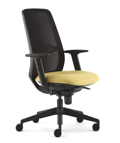 Pledge Eclipse Task Chair With Arms - Black Frame