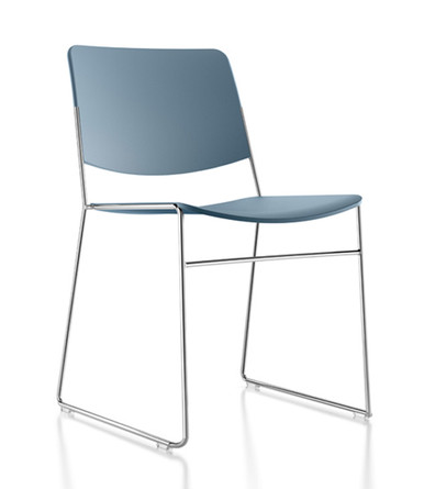 Verco Stax60 Stacking Chair Blue Grey