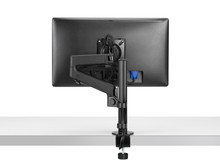 CBS Lima Pole Mounted Monitor Arm Black - Rear View