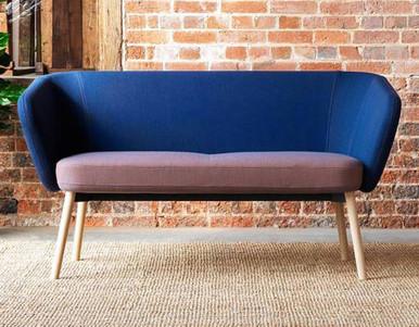 Ocee Design Billo 2 Seater Sofa Natural Oak Base
