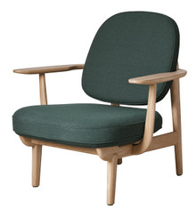 Fritz Hansen JH97 Lounge Chair - Christianshavn Green 1161 - Natural Oak