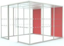 Boss Design Qube 3 Meeting Pod - 2x Upholstered Panels (Standard Spec)