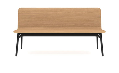 Allermuir Axyl Bench - Oak Veneer