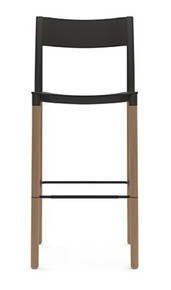 Allermuir Folk High Stool - Plastic Seat & Backrest