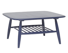 Ercol Von Magazine Table Blue - Front Angle View