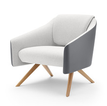 Boss Design DNA Lounge Chair - Wood Base - Front Angle View