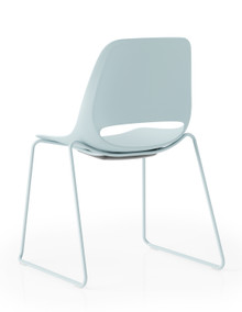 Boss Design Saint Chair - Skid Frame - Light Blue