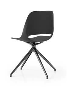 Boss Design Saint Chair - 4 Star Fixed Height Base - All Black