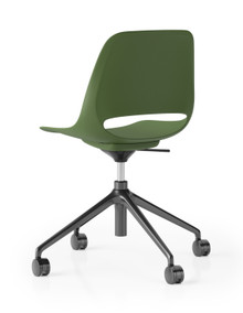 Boss Design Saint Chair - 4 Star Height Adj. Base Without Armrests - Green