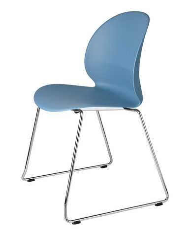 Fritz Hansen N02 Recycle Chair - Sledge Base - Light Blue