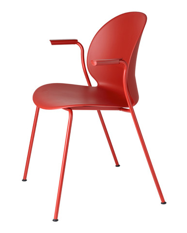 Fritz Hansen N02 Recycle Armchair - 4 Leg - Dark Red