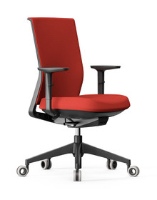 Actiu Stay Task Chair - Tex Upholstered Mesh Back - With Armrests