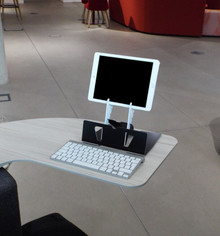 Ergonomic Cafe Arrow Tablet Stand - Landscape Setup