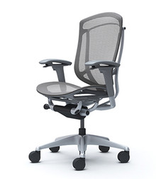 QUICK SHIP Okamura Contessa 2 Task Chair - Mesh Back / Mesh Seat / Grey