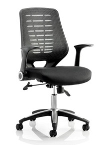 QUICK SHIP Dynamic Relay Mesh Task Chair - Black Mesh
