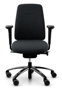 QUICK SHIP RH New Logic 200 Ergonomic Task Chair - Black - Front