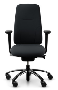 QUICK SHIP RH New Logic 220 Ergonomic Task Chair - Black - Front