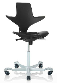 QUICK SHIP HÅG Capisco Puls Task Chair - Black - Front Angle