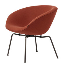 Fritz Hansen Pot Lounge Chair By Arne Jacobsen - Gabriel Capture 5901 Orange
