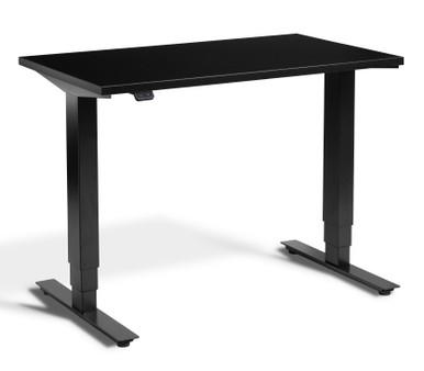 Mini Electric Height Adjustable Desk - Black Frame - Black Top