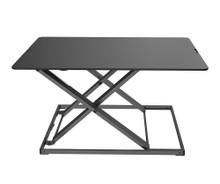 Yo-Yo Desk Lite - Desk Riser - Black - Front View