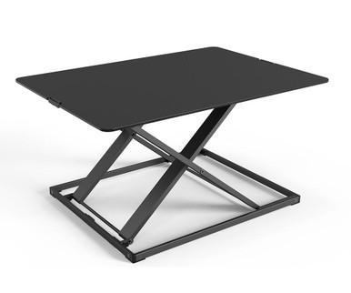 Yo-Yo Desk Lite - Desk Riser - Black - Front Angle View