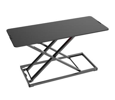 Yo-Yo Desk Lite S (Slim) - Desk Riser - Black - Front Angle View
