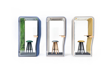 Buzzinest Phone booths in different colurs and group shot