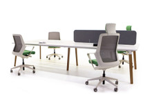 Verco Jack Bench Desking 4 Person Module