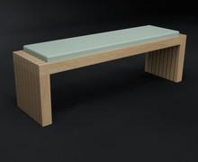 HK Designs Spaces Collection - Space 2 Sit Solid Wood Bench Seating
