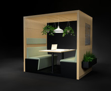 HK Designs Spaces Collection - Space 4 Four - Wooden Slat Booth