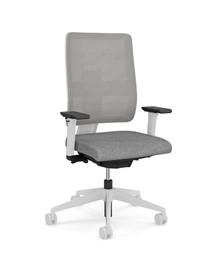 Viasit Toleo Task Chair - Mesh Back - Light Grey - Front View