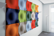 Product Code: ACT 02. Offect acoustic tiles offer a visual aesthetic as well as providing beneficial acoustic properties to any project. The Soundwave range is available in a myriad of finishes and effects.