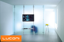 Product Code: SCP 03. Pressure fit system with flat screen mounting and glass partition separation
