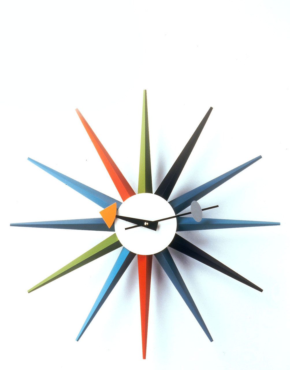 vitra sunburst wall clock by george nelson. Black Bedroom Furniture Sets. Home Design Ideas