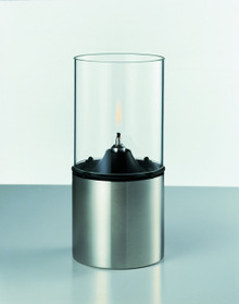 Stelton Oil lamp with clear glass shade
